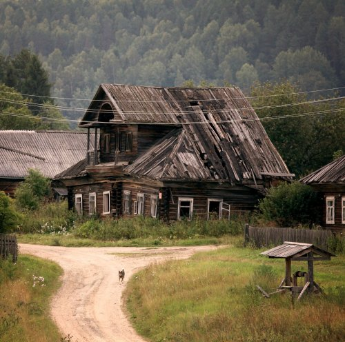 Russia Wooden House