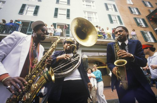 Southern USA Jazz musicians performing on the French Quarter2